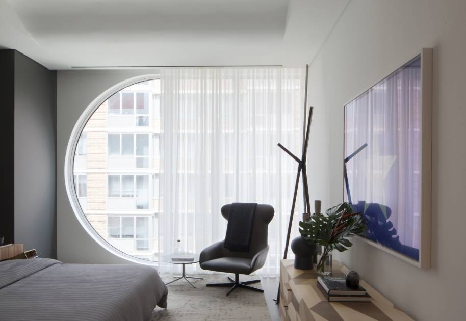 Model apartment for Divano zaha hadid